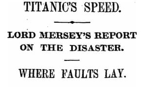 Titanic, Manchester Guardian 31 July 1912