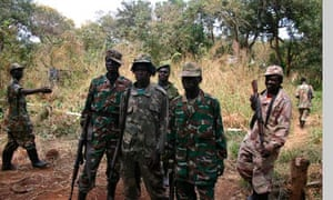 Soldiers from Kony's Lord's Resistance Army
