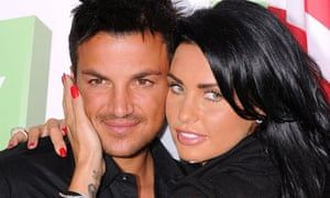 Katie Price and Peter Andre Seperate