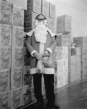 John Myers: Santa Claus at Tescos 1972