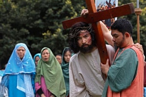 Holy Week: An actor portraying Jesus Christ