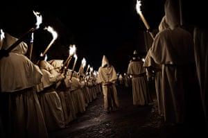 Holy Week: Penitents from Cristo de la Buena