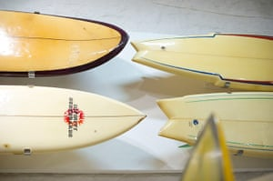 Museum of British Surfing: Surfboards on display