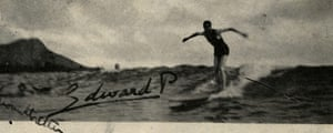 Museum of British Surfing: The Prince of Wales riding a wave