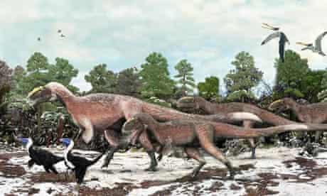 Artist's impression of feathered dinosaur Yutyrannus huali