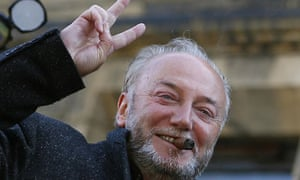 George Galloway celebrates his byelection victory in Bradford West