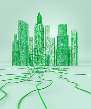 Getty gallery: skyline green wires