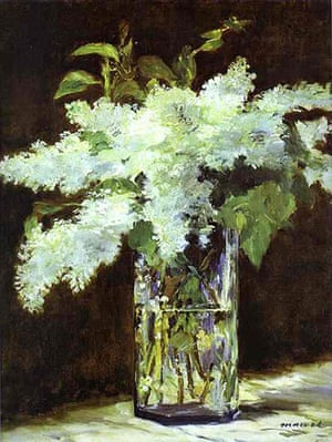 10 Best: Lilacs in a vase by Manet