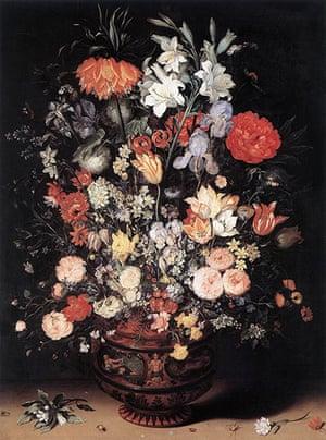10 Best: Flowers in a vase by Jan Brueghel the Elder