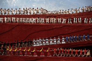 FTA: How Hwee Young: Members of the Naxi, Yi and Bai ethnic minorities perform a cultural show
