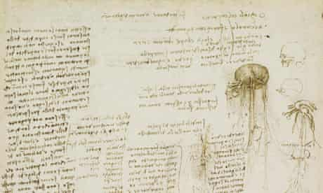 A page from Leonardo da Vinci's notebook, including his 'to-do' list