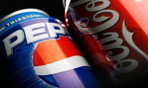 coke pepsi cans