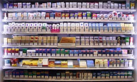 Cigarette counters at supermarkets will no longer be on view to the public