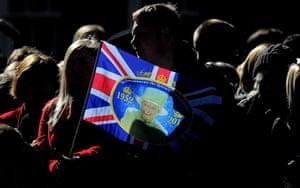 24 hours: York, England: Members of the public wait for Queen Elizabeth II