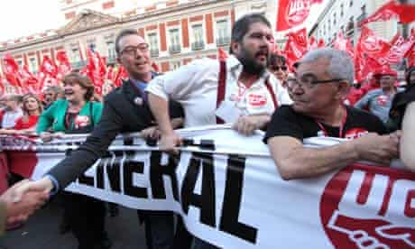 Anti-austerity demonstrations in Spain