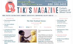 John Derbyshire's racist article in Taki's Magazine.