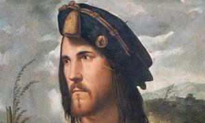 <Portrait of Cesare Borgia> by Giorgione da Castelfranco