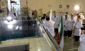 Mahmoud Ahmadinejad tours a nuclear research reactor in Tehran