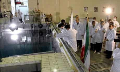 Mahmoud Ahmadinejad tours a nuclear research reactor in Tehran