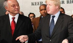 Ken and Boris anti-BNP campaign launch