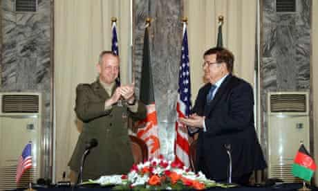 Afghanistan and US sign MoU on leading security operations in country