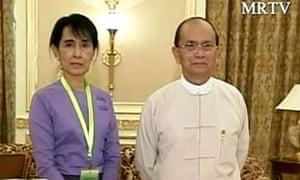 Aung San Suu Kyi and Burma's president, Thein Sein