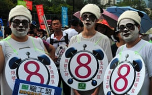 May Day 2012: Hong Kong: Activists attend a May Day protest