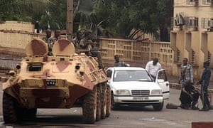 Soldiers loyal to the junta in Bamako, Mali