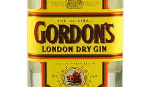 Gordon s London Dry Gin bottle