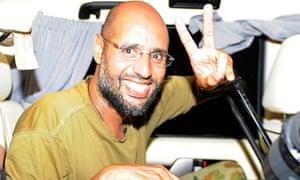 Saif al-Islam, son of Muammar Gaddafi, in 2011