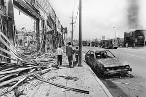 Rodney King riots: South central Los Angeles smoulders in 1992