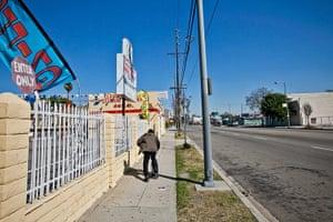 Rodney King riots: Adams Blvd near Crenshaw Avenue, Los Angeles, 2012