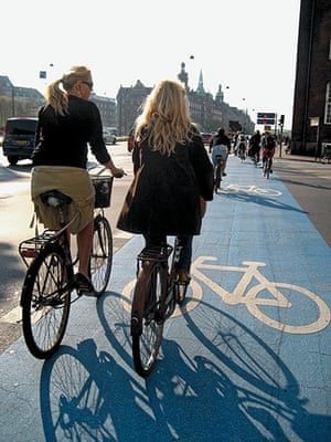 Big Picture, bikes: Big Picture: two girls on a cycle lane