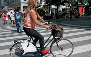 Big Picture, bikes: Big Picture: fashionable girl on a bike