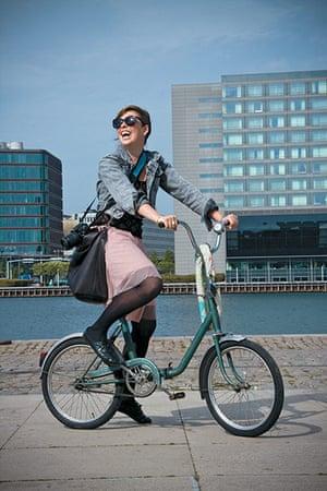Big Picture, bikes: Big Picture: stylish girl on a bike