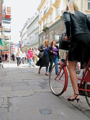 Big Picture, bikes: Big Picture: girl wearing heels on a bike