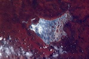 Satellite Eye on Earth: salt lake in The Australian Outback