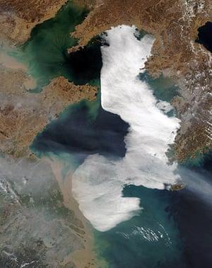 Satellite Eye on Earth: Fog Blankets the Yellow Sea