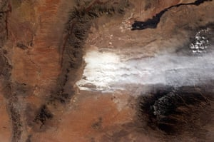 Satellite Eye on Earth: White Sands dune field in New Mexico
