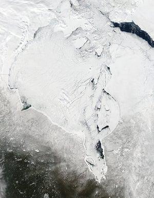 Satellite Eye on Earth: Ice breaking up in Hudson Bay