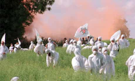 Protest over GM crop, UK, 1999