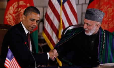 Barack Obama Hamid Karzai