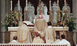Catholic mass in St Patrick's cathedral, New York