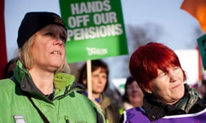 Public sector pensions protests