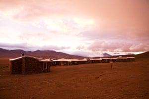 Bolivia travel: Desert Hotel in Eduardo National Park, Bolivia