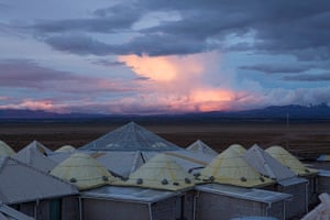 Bolivia travel: general view of the Salt Flats in Bolivia
