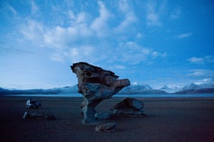 Bolivia travel: A Rock formation sculpted by the wind
