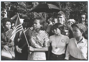 Danny Lyon: SNCC workers outside funeral