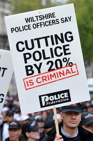 Public Sector strikes: Police officers march through central London