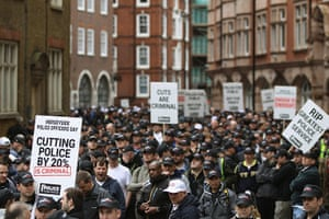 Public Sector strikes: Police officers and public sector workers march through central London